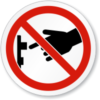Do Not Turn On Switch ISO Sign