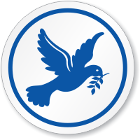 Dove Peace Symbol ISO Circle Sign
