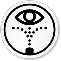 Emergency Eye Wash Station Symbol ISO Circle Sign
