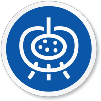 Endocrine Gland Symbol ISO Circle Sign