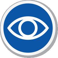 Eye Symbol ISO Circle Sign