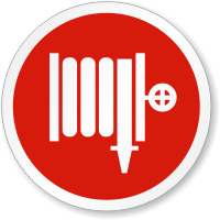 Fire Hose Symbol ISO Circle Sign