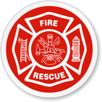 Fire Rescue Symbol ISO Circle Sign