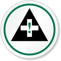 First Aid Symbol ISO Circle Sign