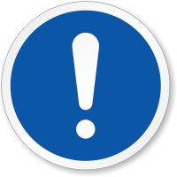 General Mandatory Action ISO Circle Sign
