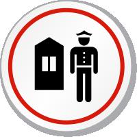 Guard Station Symbol ISO Circle Sign