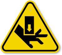 ISO Hand Crush, Force From Above Symbol Sign