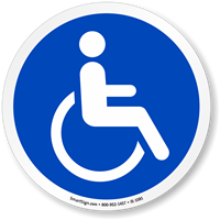 Accessible ISO Circle Sign