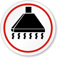 Handle Chemicals Under Fume Hood ISO Sign