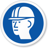 Hard Hat Required ISO Sign