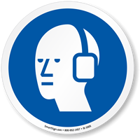Hearing Protection Required ISO Sign