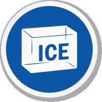 Ice Symbol ISO Circle Sign