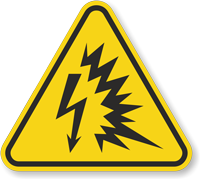 ISO Arc Flash Symbol Triangle Warning Sign