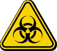 ISO Biohazard Symbol Warning Sign