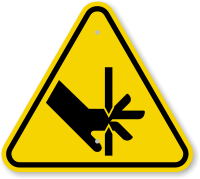 ISO Cutting of Fingers Straight Blades Symbol Sign