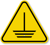 ISO Electric Ground Hazard Symbol Warning Sign