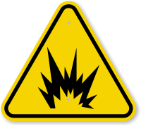 ISO Explosion, Arc Flash Symbol Warning Sign