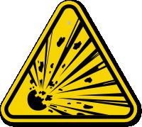 ISO Explosive Materials Symbol Warning Sign