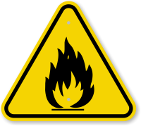 ISO Fire Hazard Symbol Warning Sign