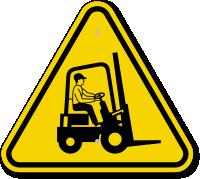 ISO Forklift Hazard Symbol Warning Sign