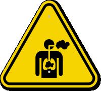 ISO Inhalation Hazard Symbol Warning Sign
