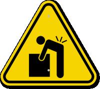 ISO Lifting Hazard Symbol Warning Sign