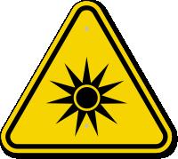 ISO Optical Radiation Symbol Warning Sign