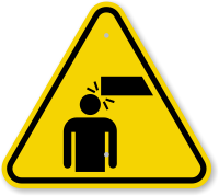 ISO Overhead Obstacles Symbol Warning Sign