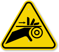 ISO Entanglement Pinch Point Symbol ISO Warning Sign