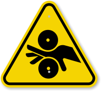ISO Entanglement Pinch Point Symbol Warning Sign