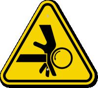 ISO Hand Cut Hazard Symbol Warning Sign