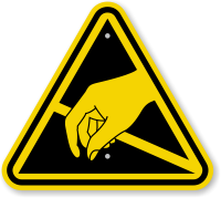 ISO Static Sensitive Hazard Symbol Warning Sign
