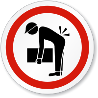 Lifting Hazard ISO Circle Sign