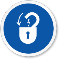 Lock Out Electrical Power ISO Sign