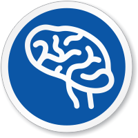 Nervous System Brain Symbol ISO Circle Sign