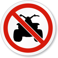 No All Terrain Vehicle ISO Sign