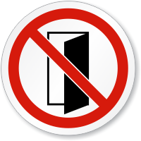 Do Not Close/Open Door Symbol ISO Prohibition Sign