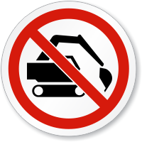 Do Not Dig ISO Circle Sign
