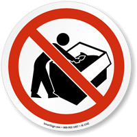 No Digging Through Dumpster ISO Sign
