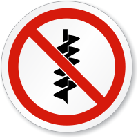 No Drilling Symbol Iso Prohibition Circular Sign Sku