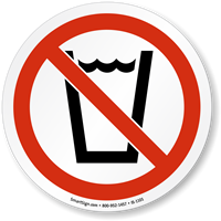 No Drinking ISO Prohibition Sign