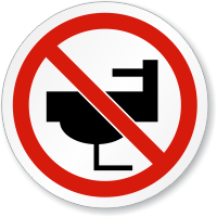 No Dumping In Sink ISO Prohibition Circular Sign