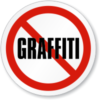 No Graffiti ISO Circle Sign