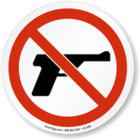 No Guns Permitted ISO Sign
