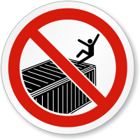 No Handrail Watch Your Step ISO Sign