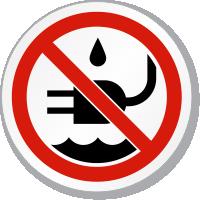 Do Liquid Near Plug Water ISO Sign