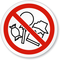 No Pansy Zone ISO Sign