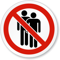 No People Allowed Symbol ISO Circle Sign