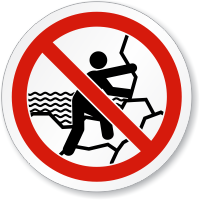 No Rock Climbing ISO Sign