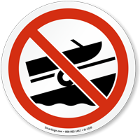 No Boat Trailer Graphic Sign